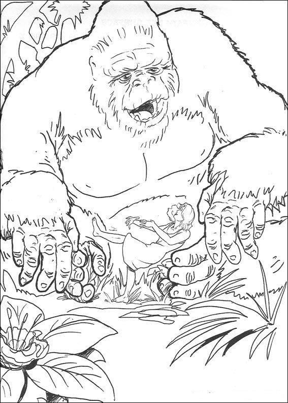 Coloriage de King Kong et Ann Darrow