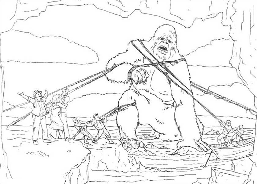 Coloriage de King Kong capturé