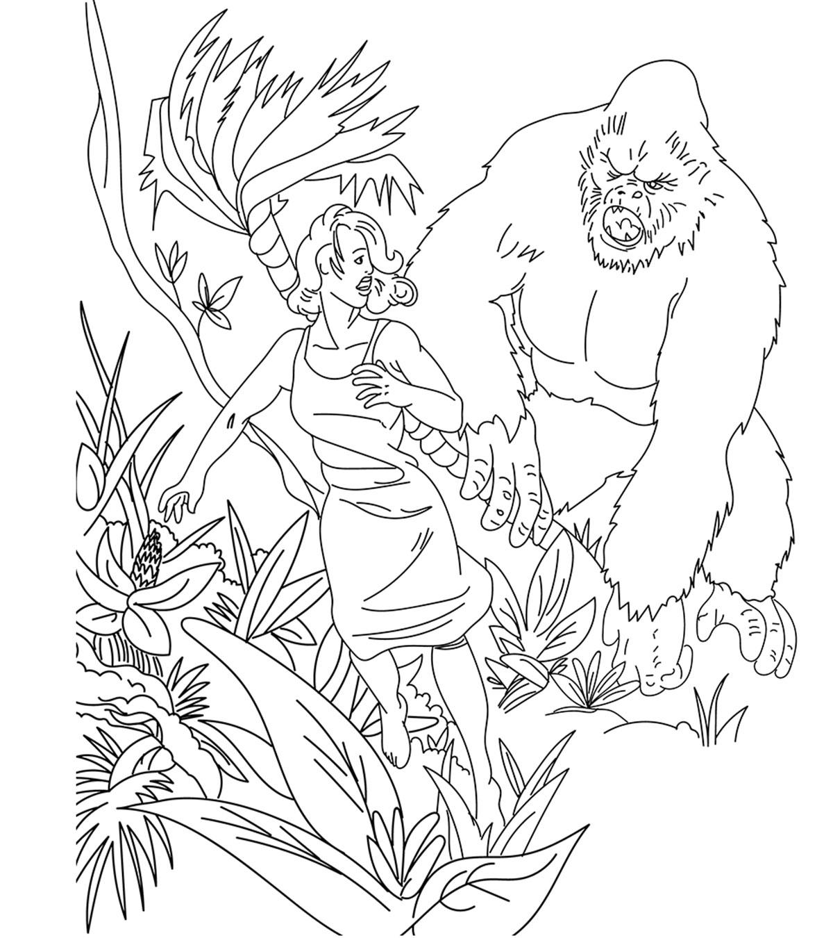 Coloriage de King Kong Jungle
