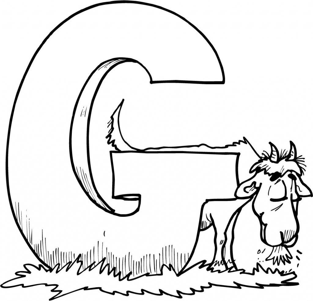 Coloriage de chèvre à imprimer