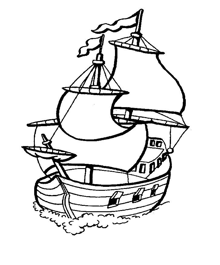 Coloriages de bateaux pour enfants