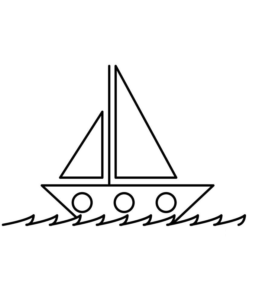 Coloriage bateaux