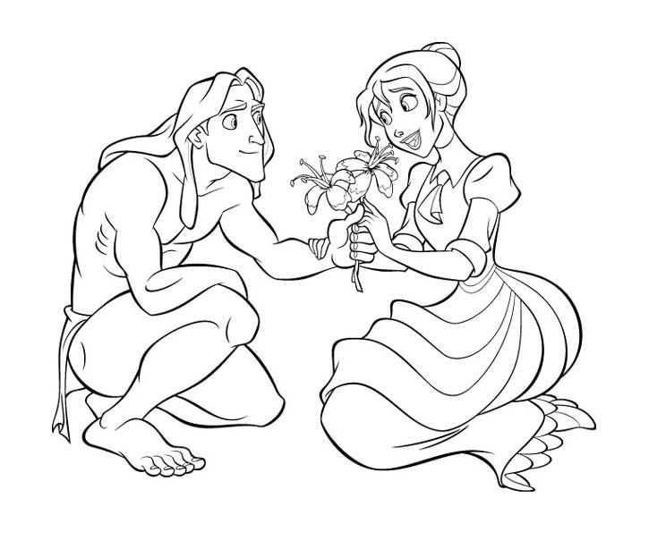 Coloriage Tarzan - Tarzan et Jane