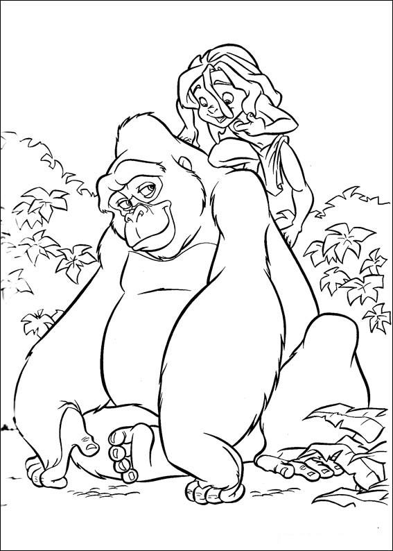 Coloriage Tarzan à Imprimer Gratuit