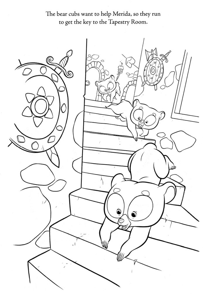 Brave Coloring Pages - frère ours