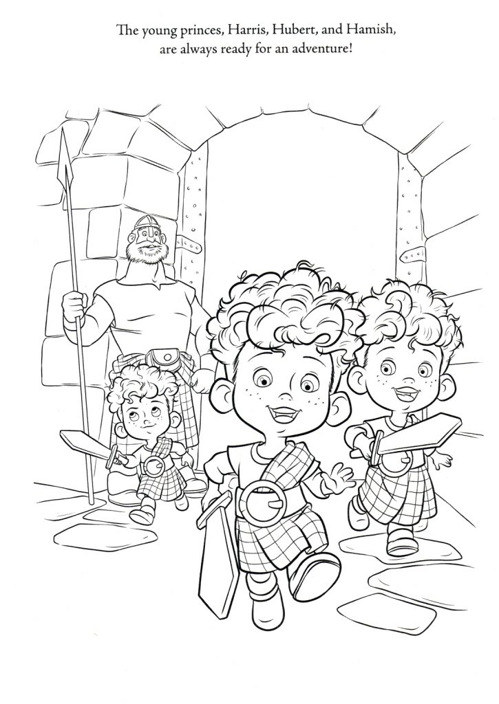 Brave Coloring Pages - Frères Meridas