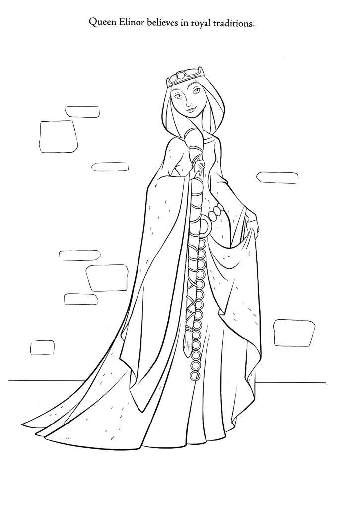 Coloriage Brave - Reine Elinor