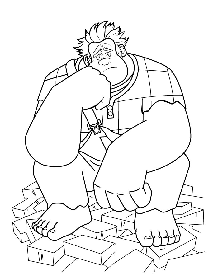 Coloriage Wreck-it Ralph Coloriage