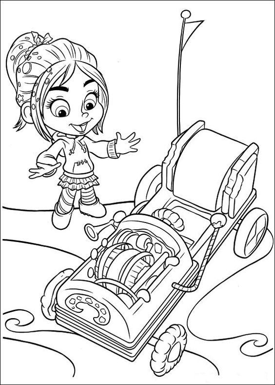 Télécharger gratuitement des coloriages de Wreck-it Ralph