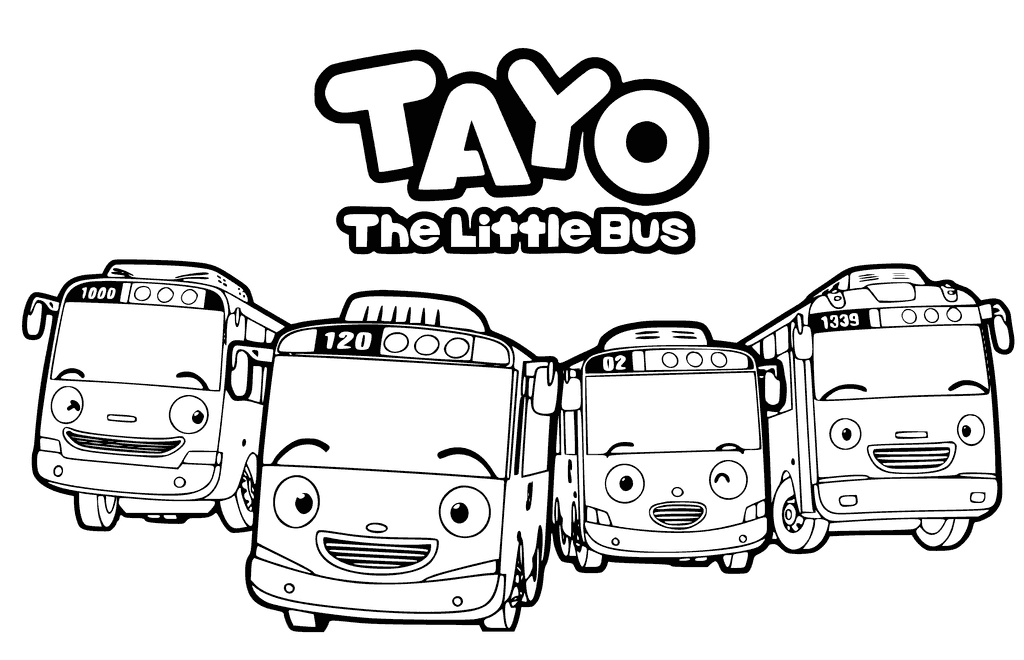 Tayo The Little Bus Character Coloring Page