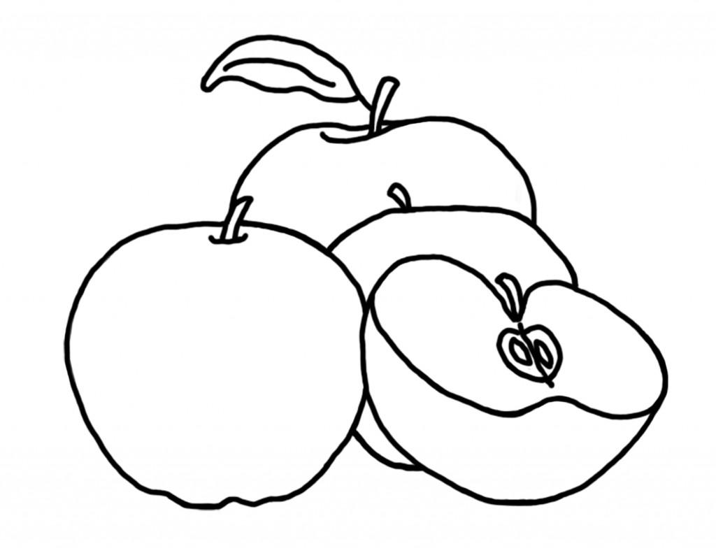 Coloriage Pommes