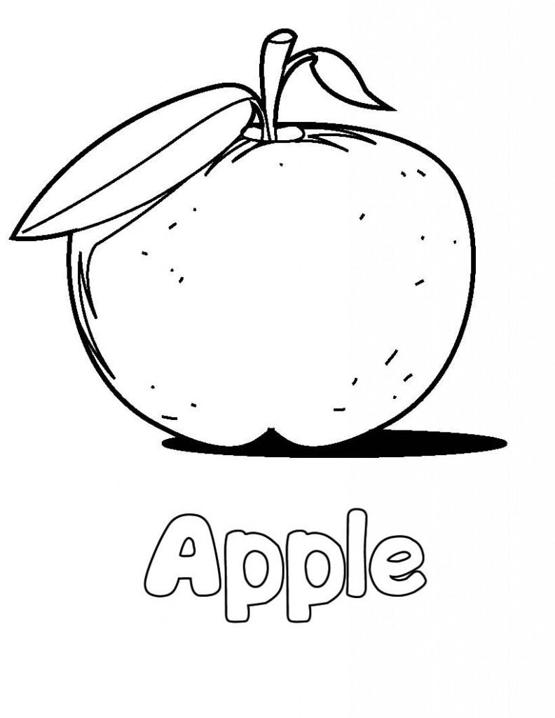 Coloriage de pomme à imprimer