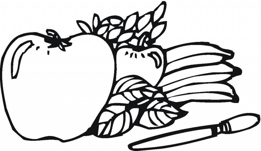 Coloriage De Pomme Pour Les Enfants