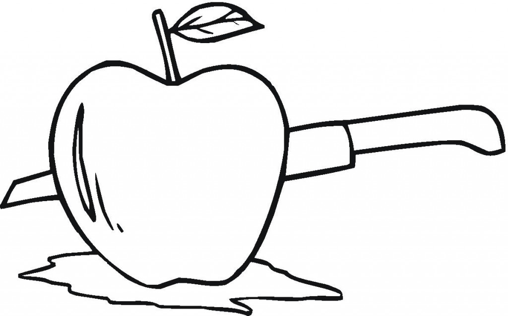 Coloriage de pomme gratuit à imprimer