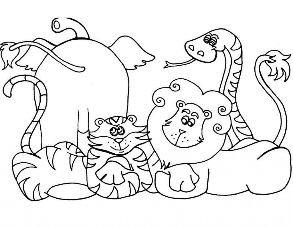 Coloriage animaux du zoo sauvage