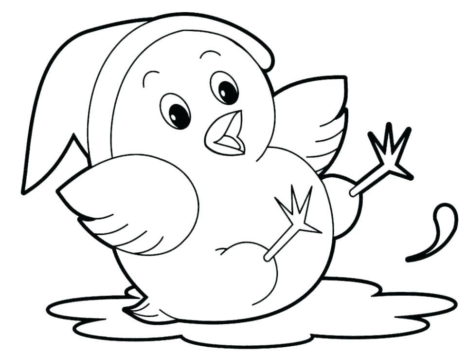 Coloriage bébé animal oiseau