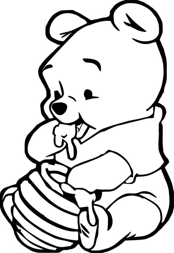 Coloriage Winnie l'ourson