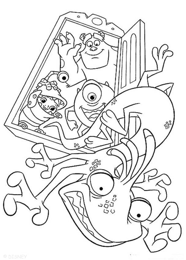 Coloriage Monsters Inc Randall Boggs