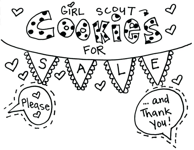 Girl Scout Cookie Coloriage imprimable signe