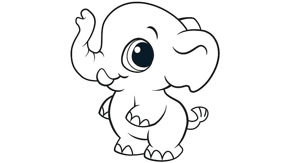 Coloriage bébé éléphant