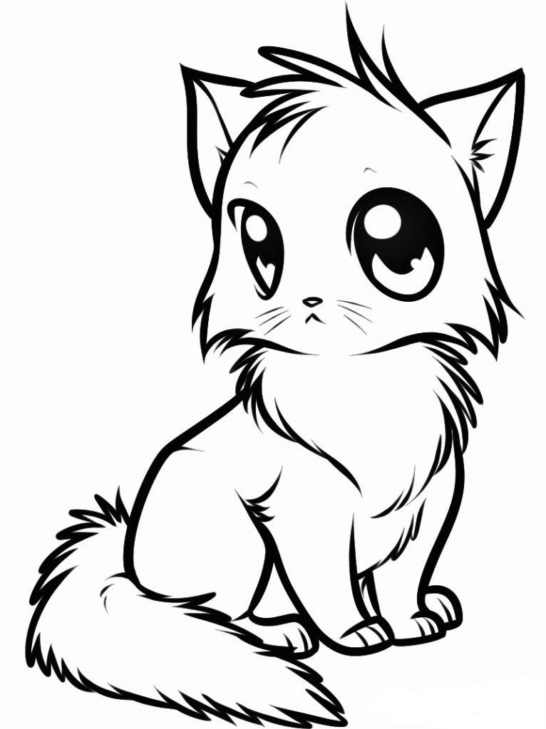 Coloriage chaton mignon