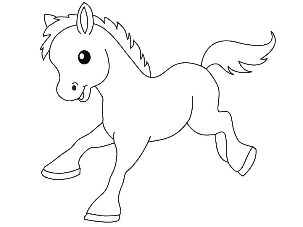 Coloriage bébé poney