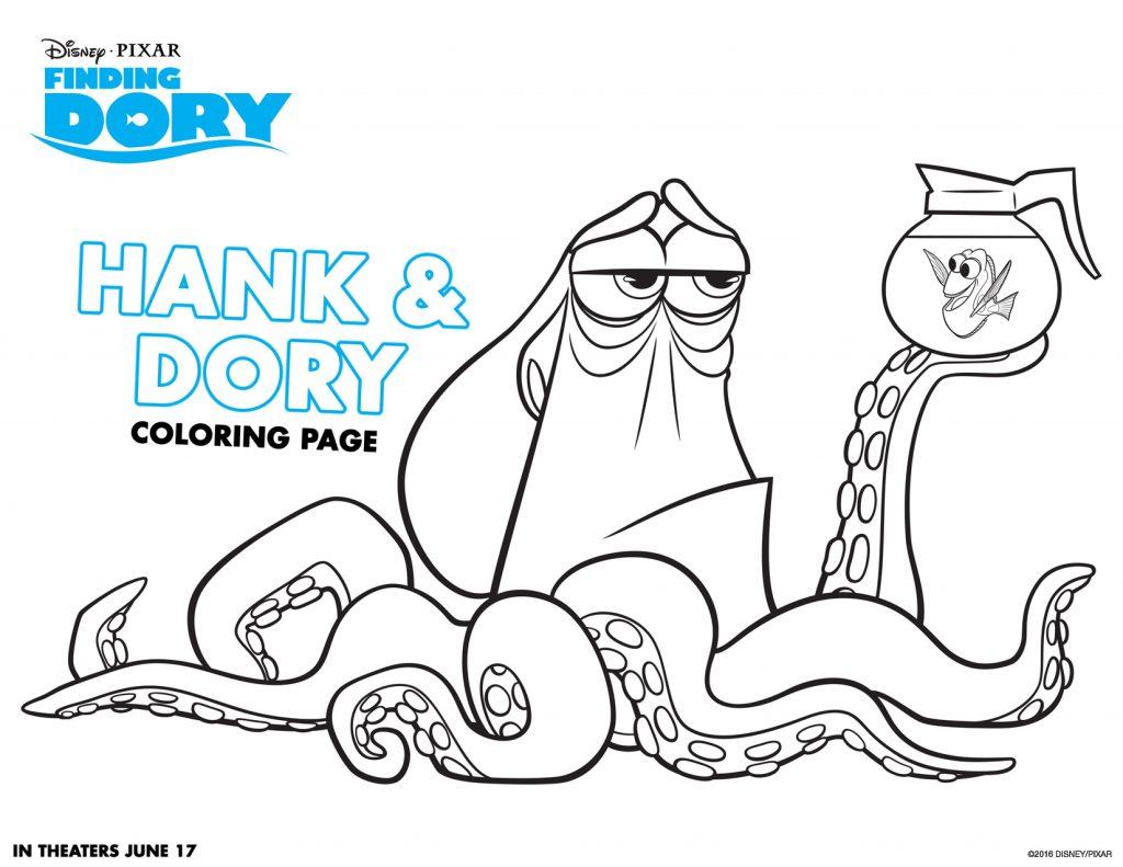 Hank et Dory à colorier
