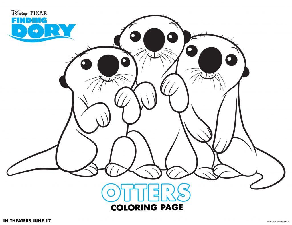 Dory Otters à colorier