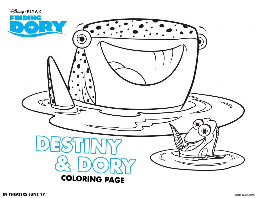 Coloriage Destiny et Dory