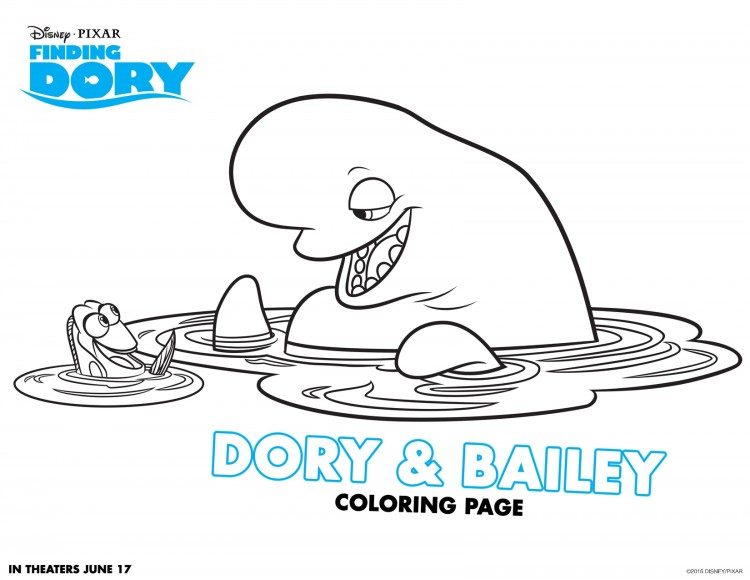 Dory et Bailey à colorier