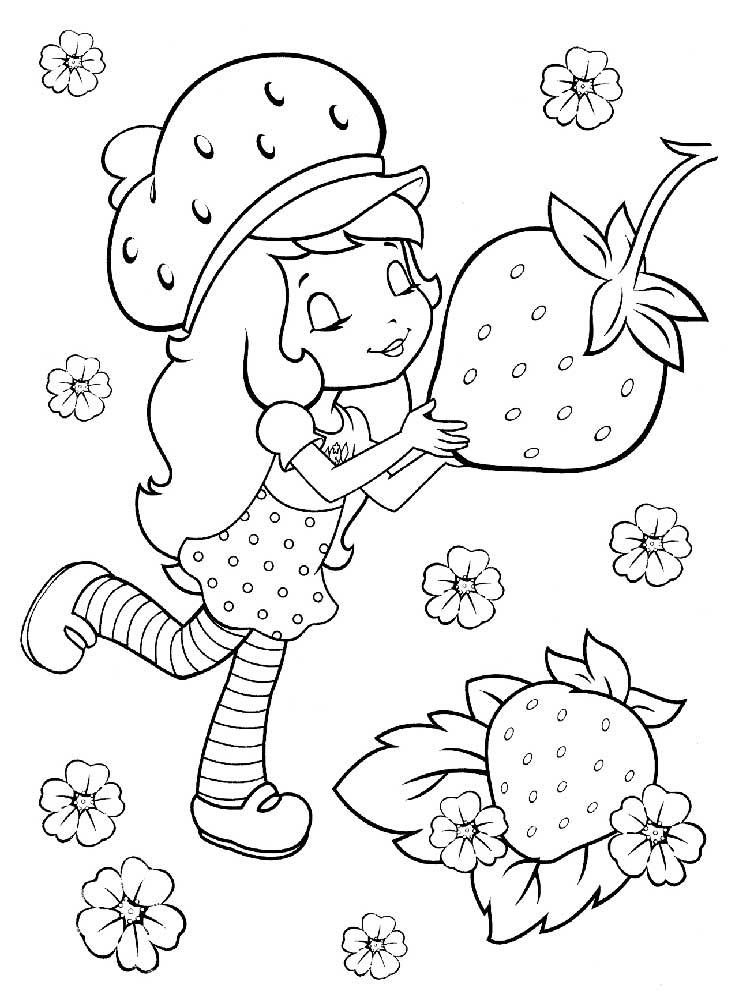 Coloriage sablé aux fraises