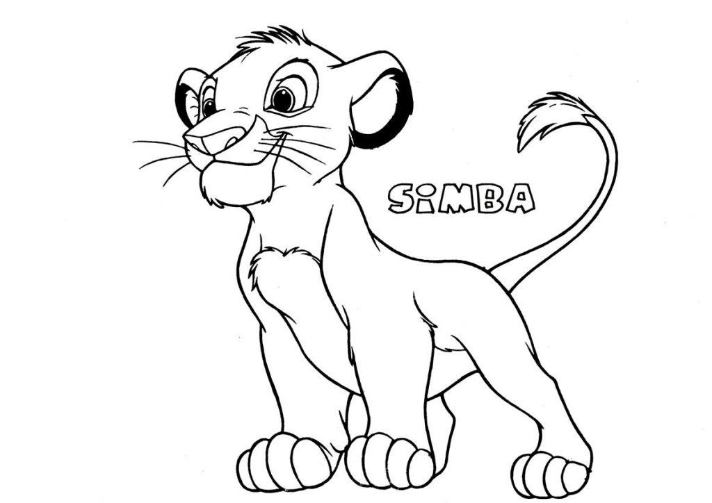 Coloriage Simba gratuit à imprimer