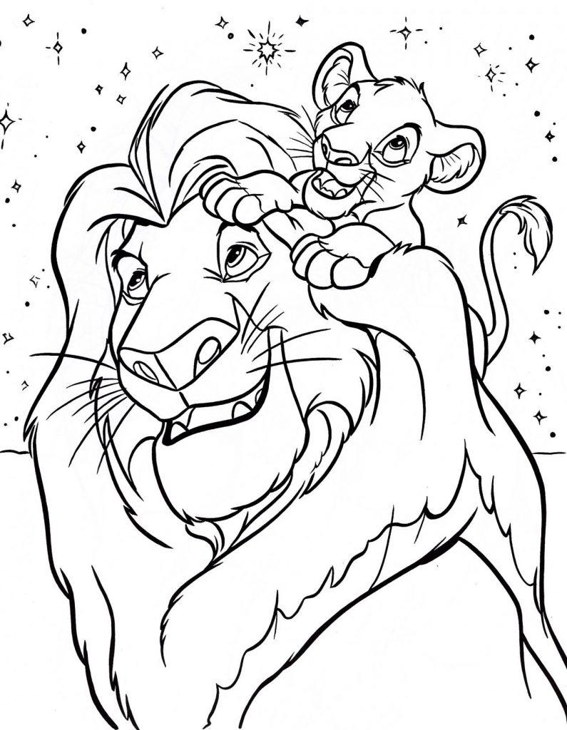 Coloriage Le Roi Lion à Imprimer