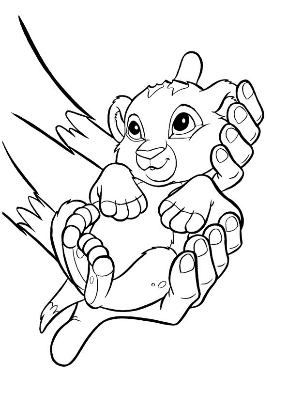 Coloriage bébé simba