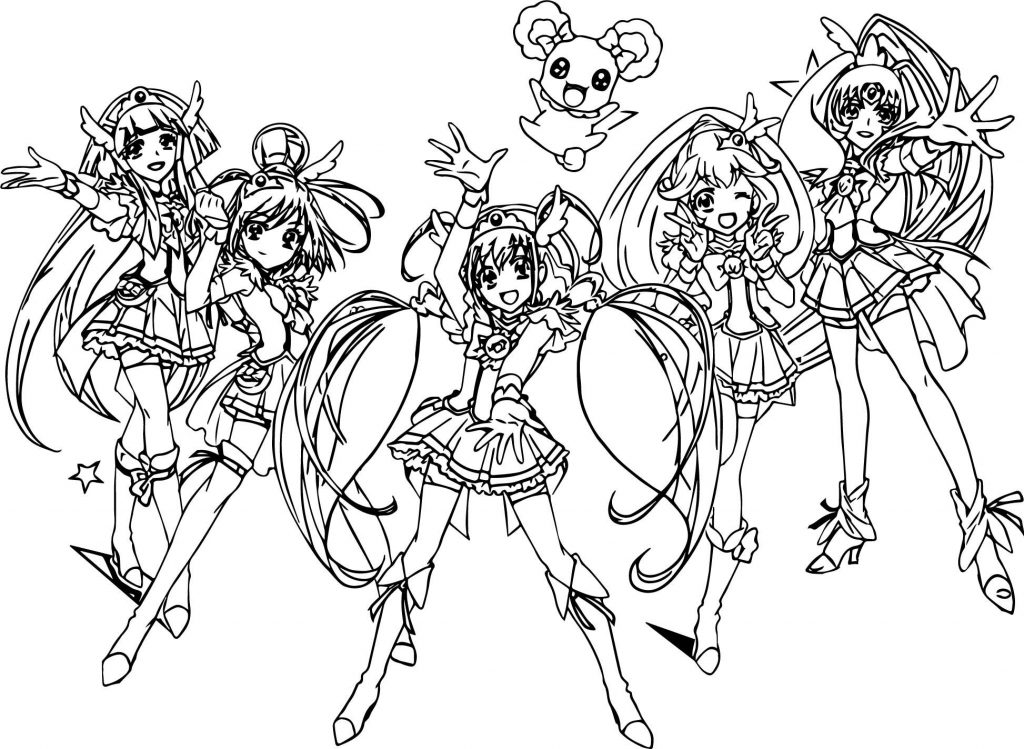 Coloriage Glitter Force Girls