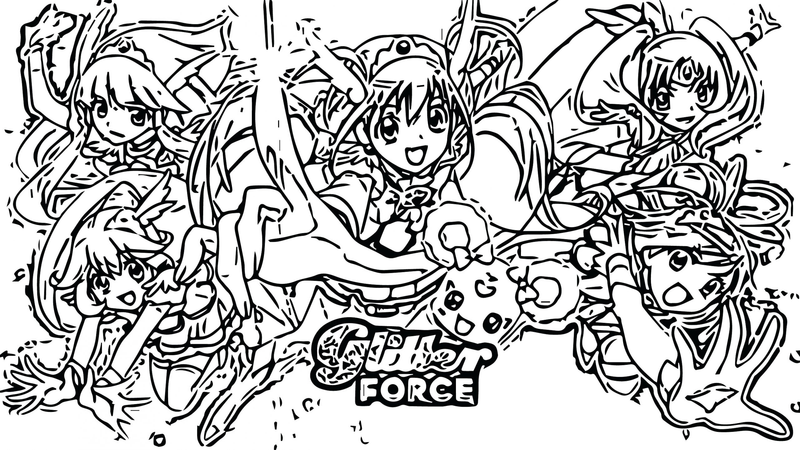 Coloriage Glitter Force
