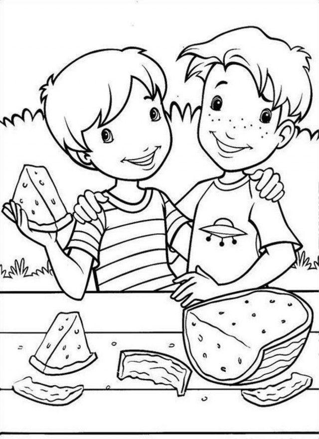 Coloriages de pastèque