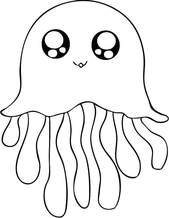 Méduse - Coloriages d'animaux