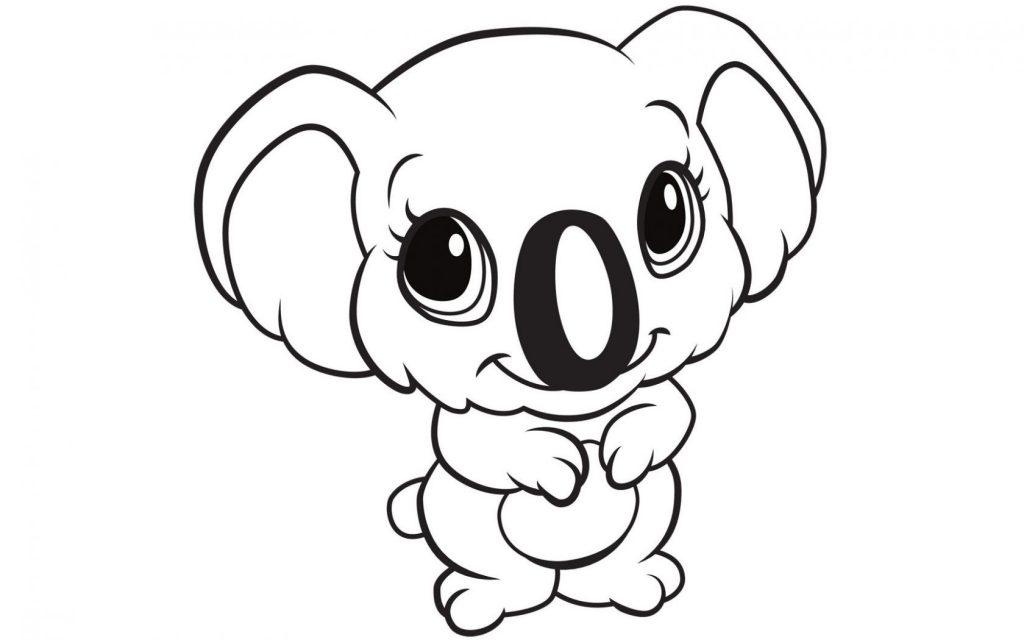 Koala - Coloriages d'animaux