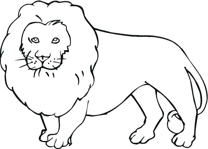 Lion - Coloriages d'animaux