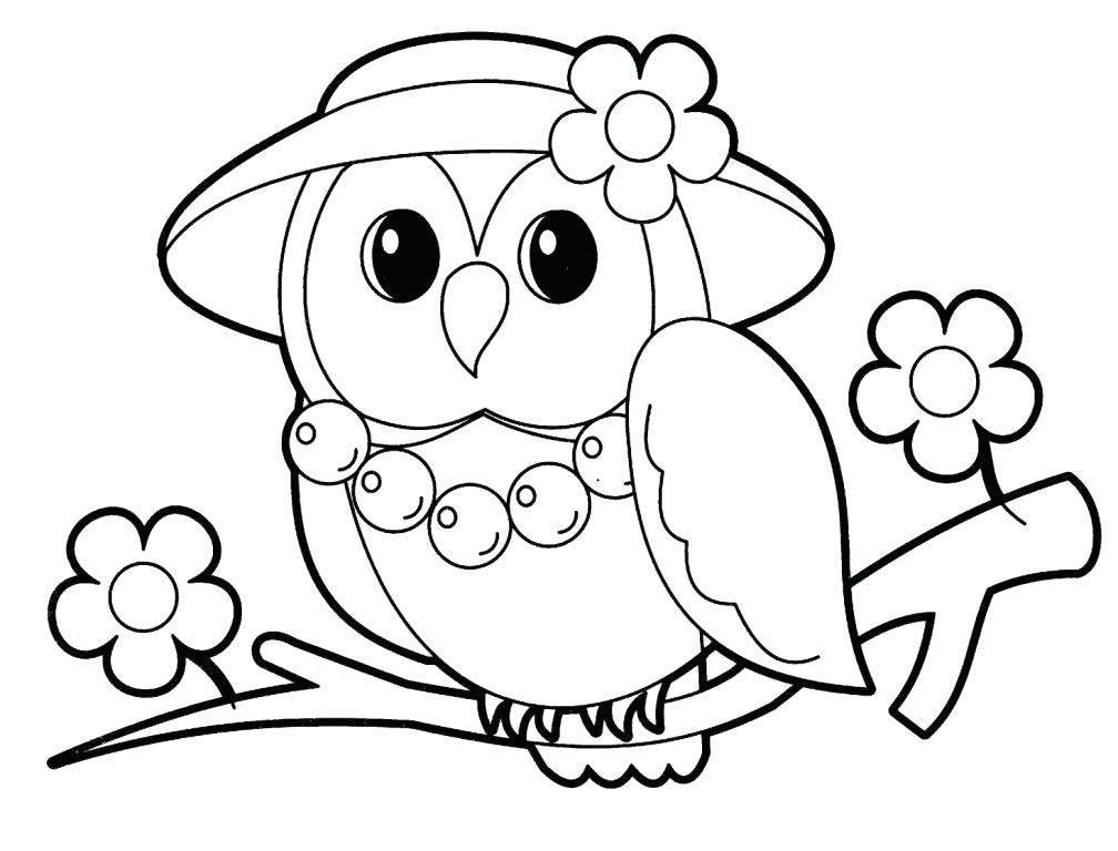 Coloriage animaux mme hibou