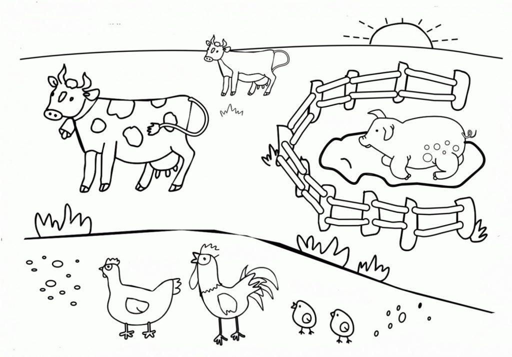 La ferme - Coloriages d'animaux