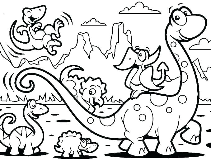 Dinosaures - Coloriages d'animaux
