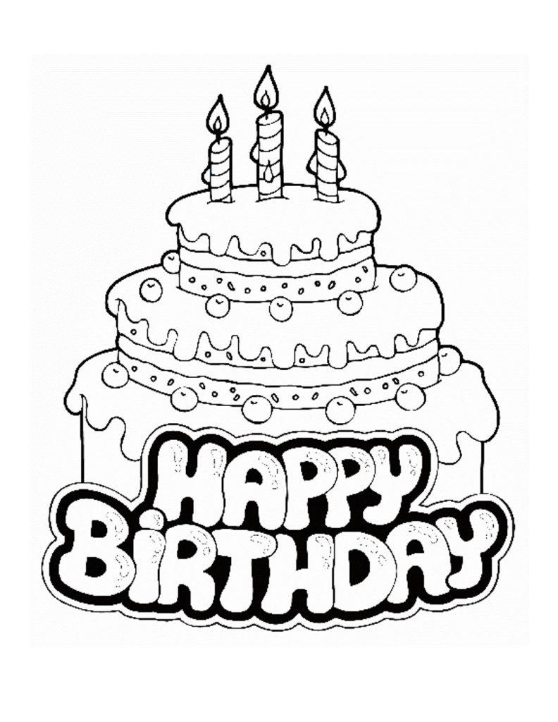 Coloriage gâteau d'anniversaire à imprimer