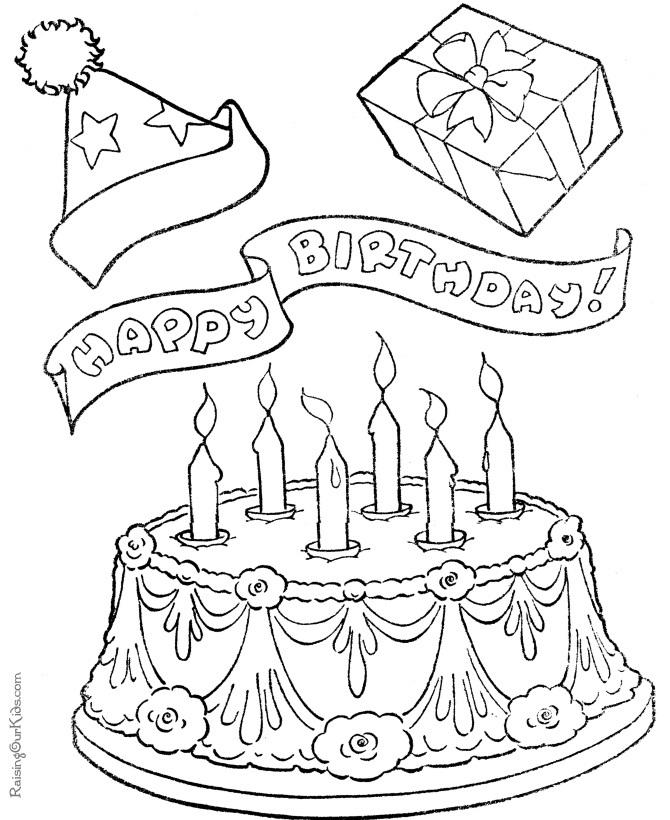 Coloriage gâteaux d'anniversaire