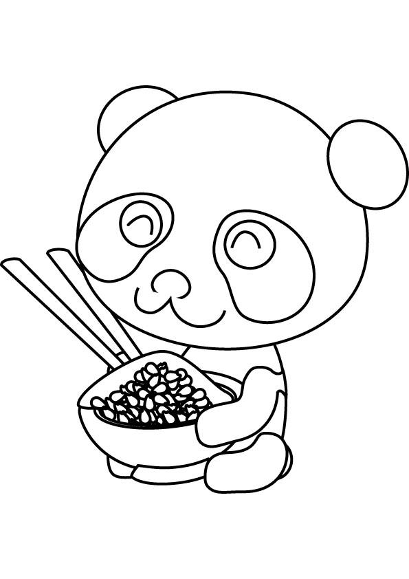 Coloriage panda mignon