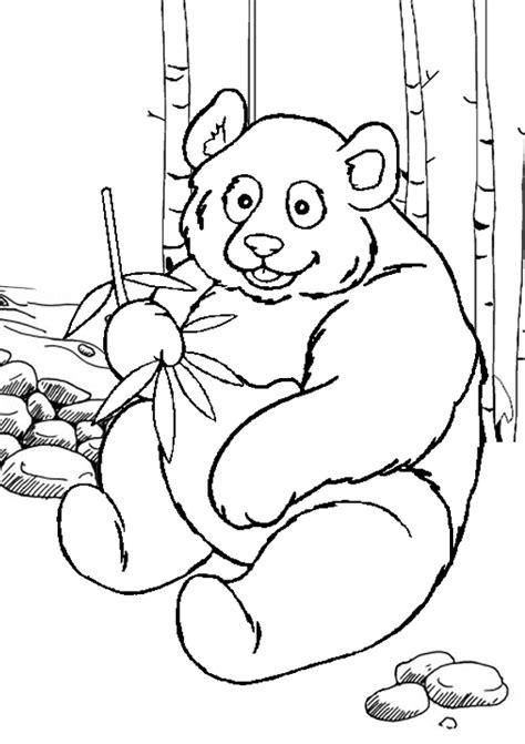 Coloriage panda gratuit à imprimer