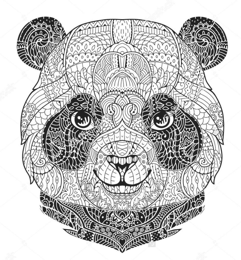 Coloriage Panda Gratuit
