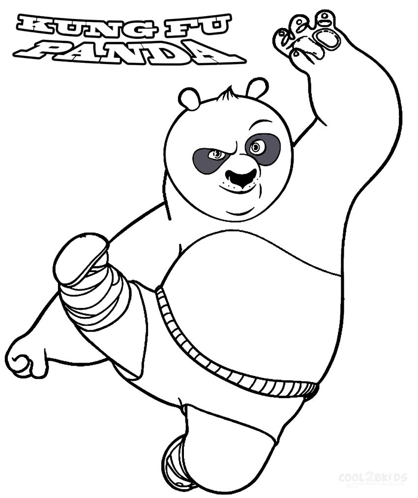 Coloriage Kung Fu Panda à imprimer