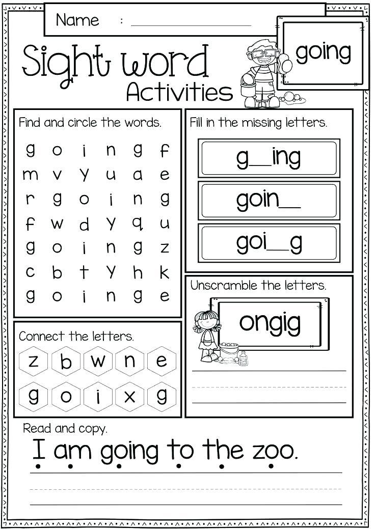 2nd Grade Sight Word Worksheets